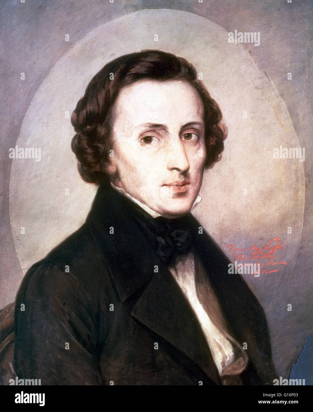 Frédéric François Chopin (March 1, 1810 - October 17, 1849) was a Polish composer and virtuoso pianist. - Stock Image