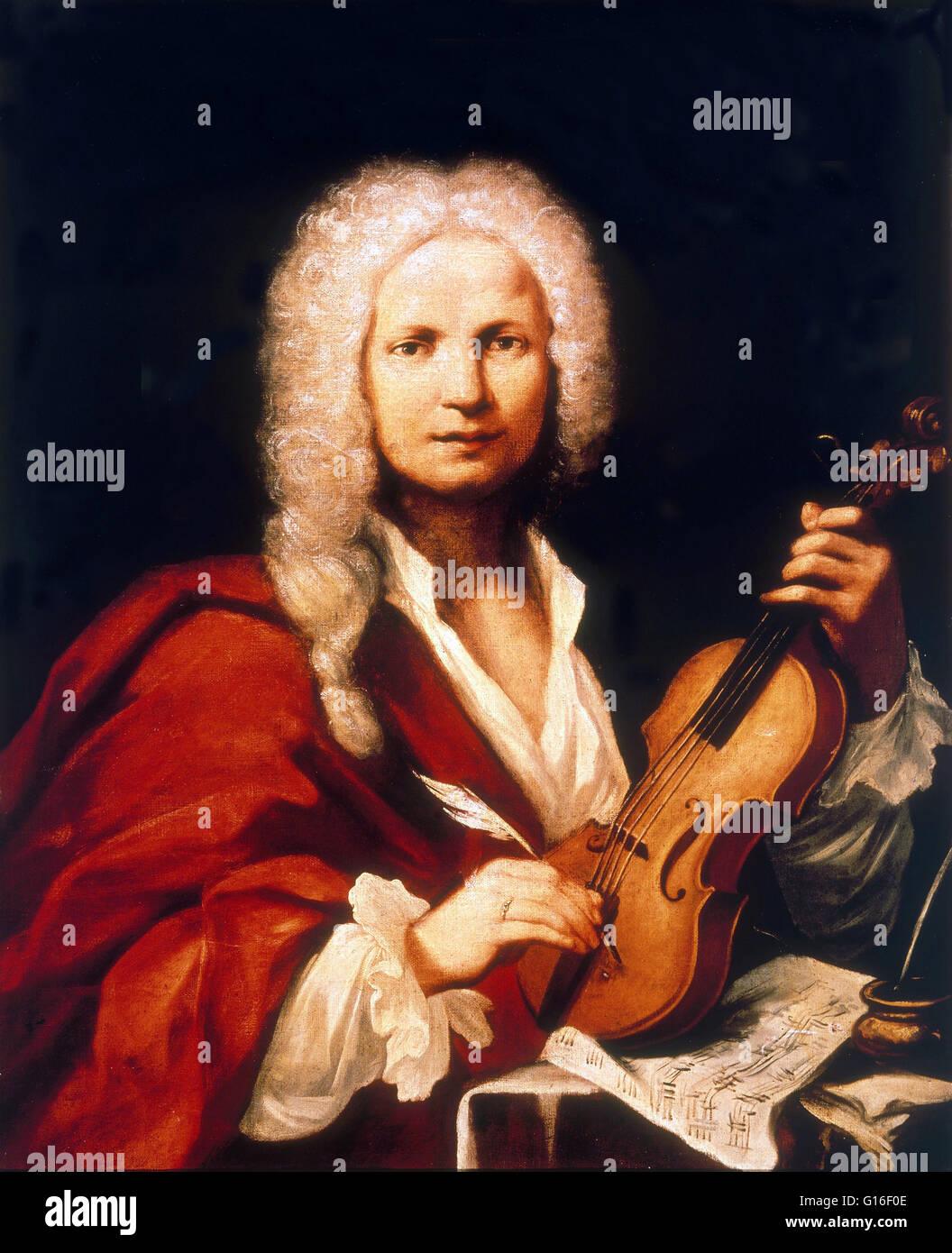 Antonio Lucio Vivaldi ( March 4, 1678 - July 28, 1741) was an Italian Baroque composer, virtuoso violinist, teacher - Stock Image