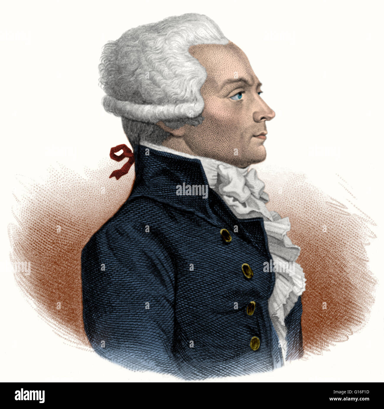 Maximilien Francois Marie Isidore Robespierre (May 6, 1758 - July 28, 1794) was a French lawyer and politician, - Stock Image