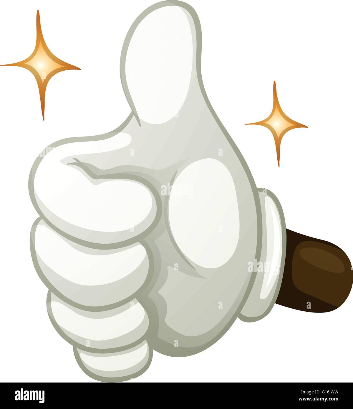 Hand gesture thumb up illustration - Stock Vector