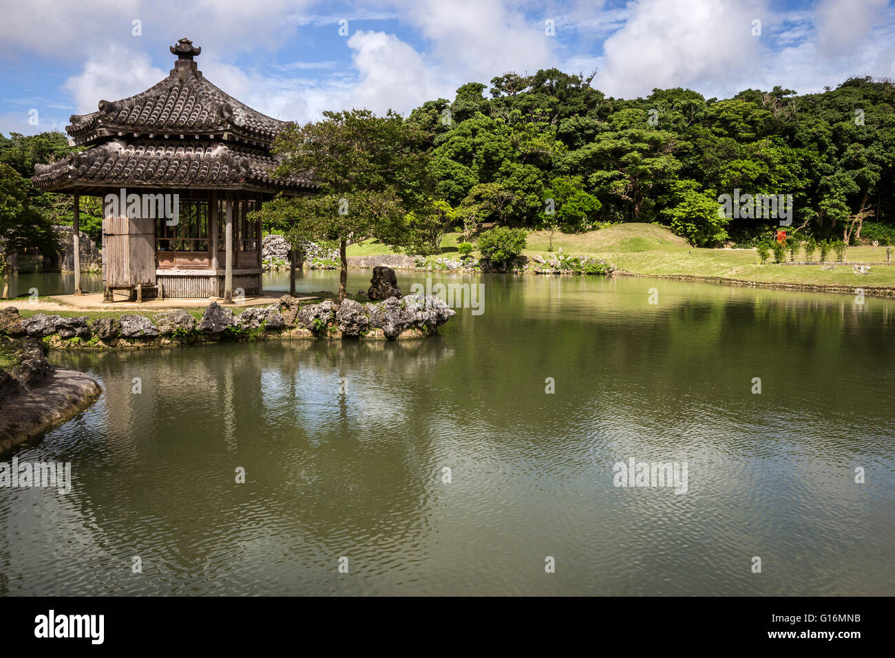 Shikinaen Garden and Palace were constructed at the end of the 18th century as a second home for the royal family - Stock Image
