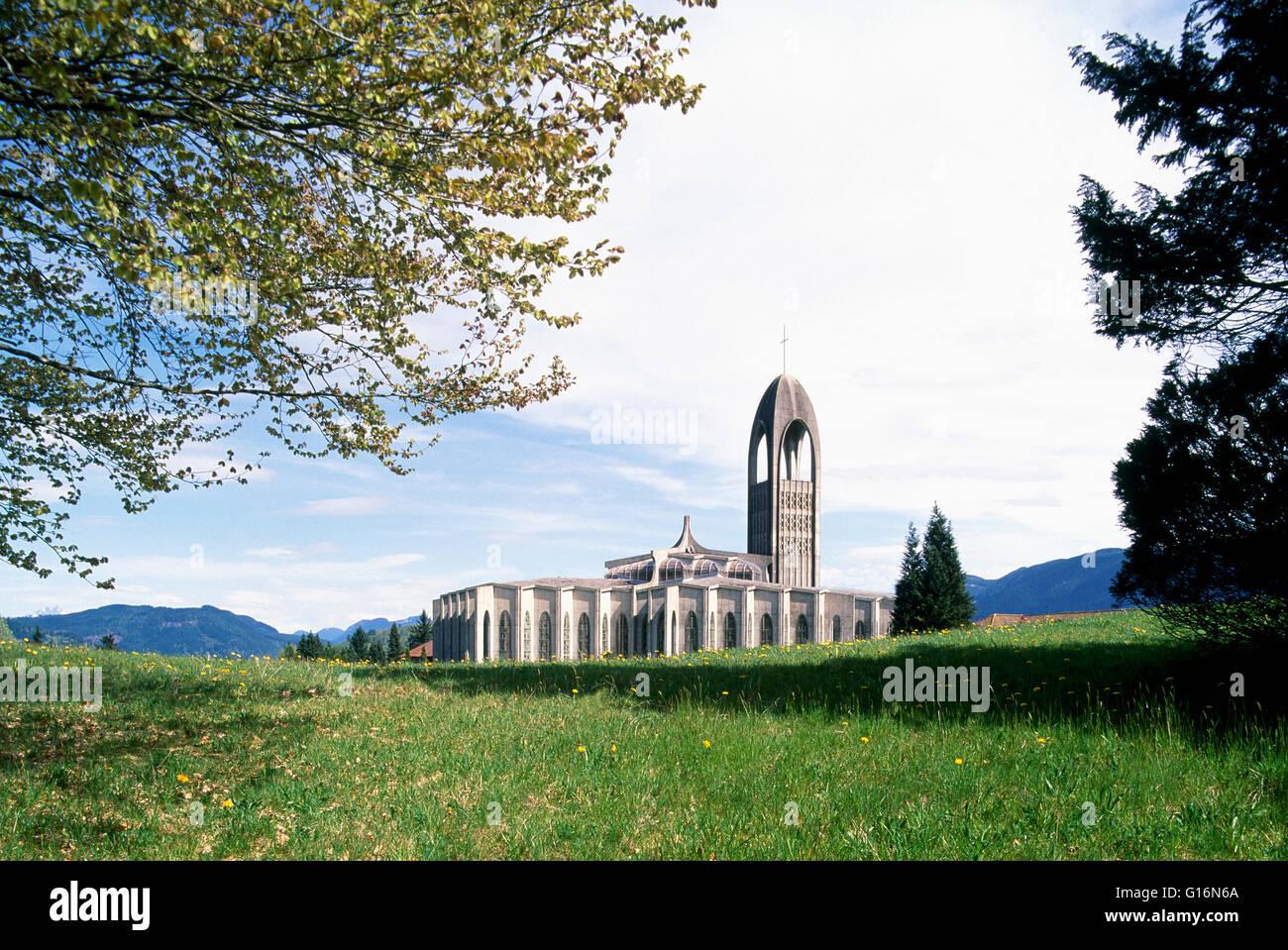 Mission, BC, British Columbia, Canada - Westminster Abbey, Benedictine Monastery, Roman Catholic Church - Stock Image