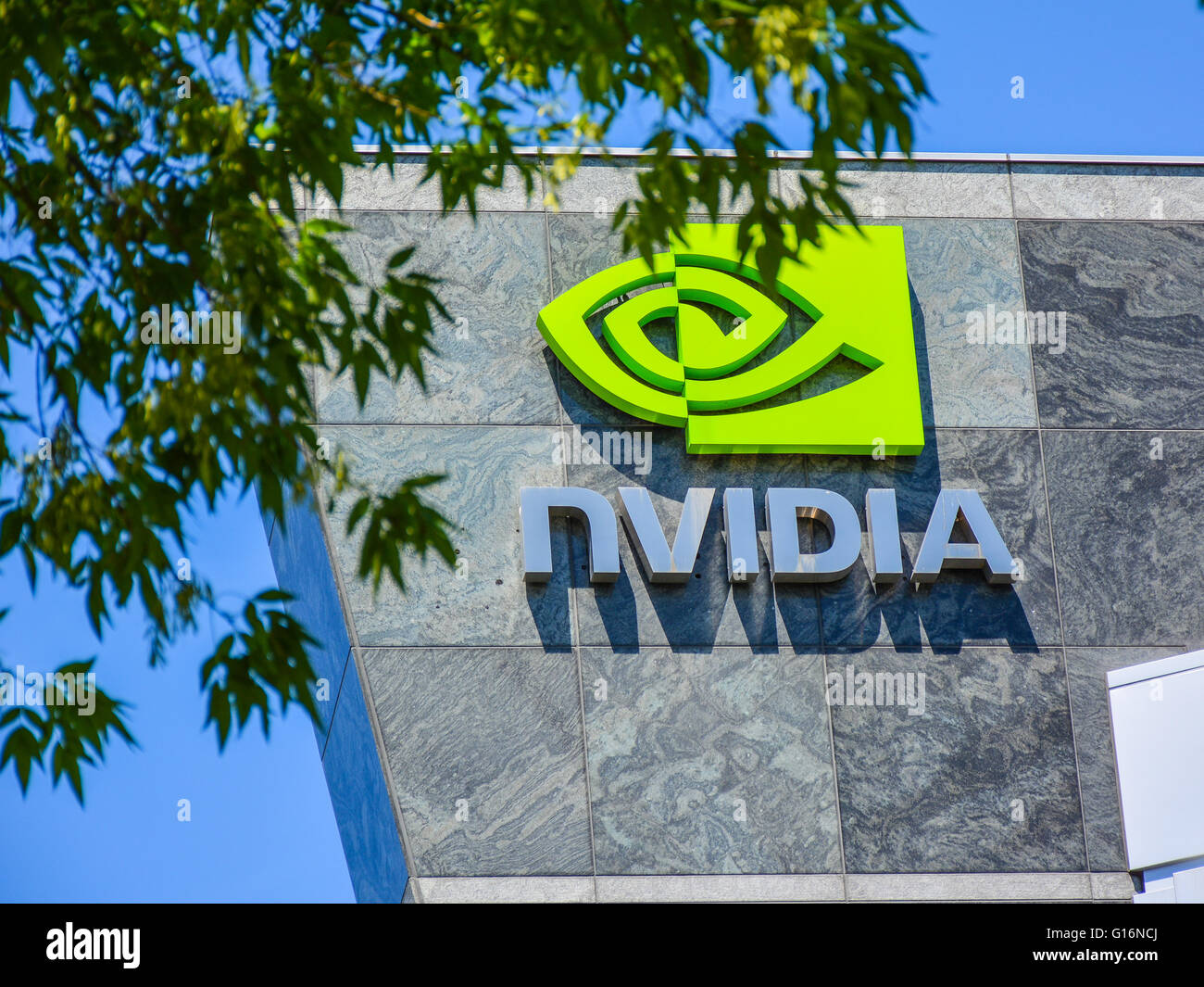 Nvidia Building - Santa Clara, California, USA Stock Photo