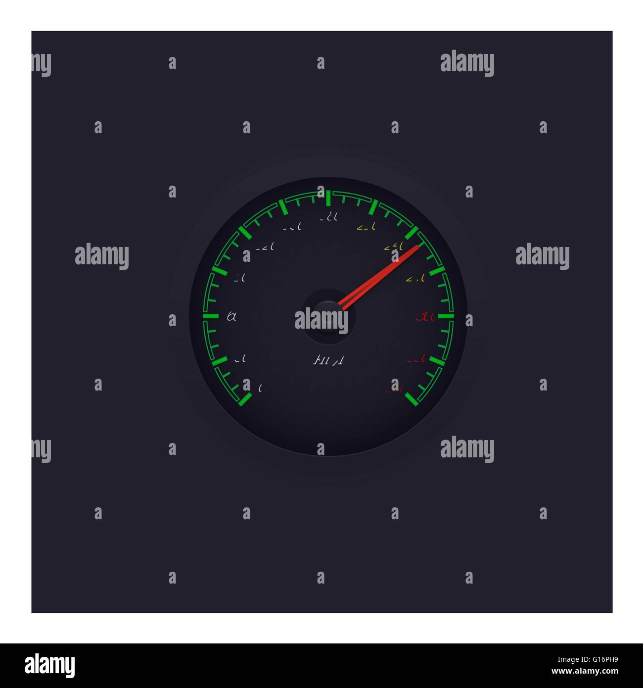 Speed meter Logo - Stock Image