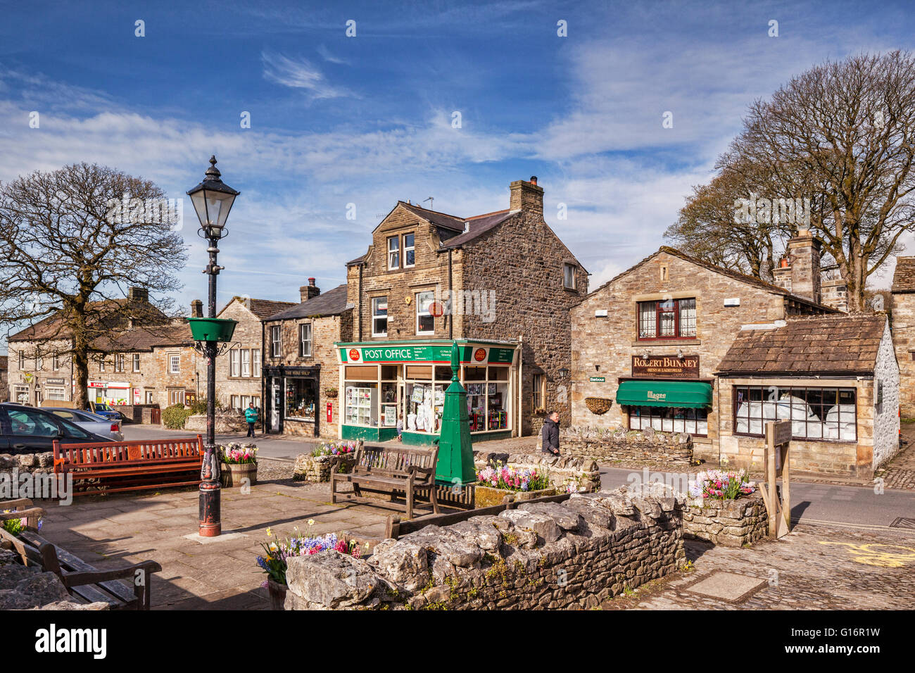 Grassington, one of the prettiest villages in the Yorkshire Dales National Park, North Yorkshire, England, UK - Stock Image