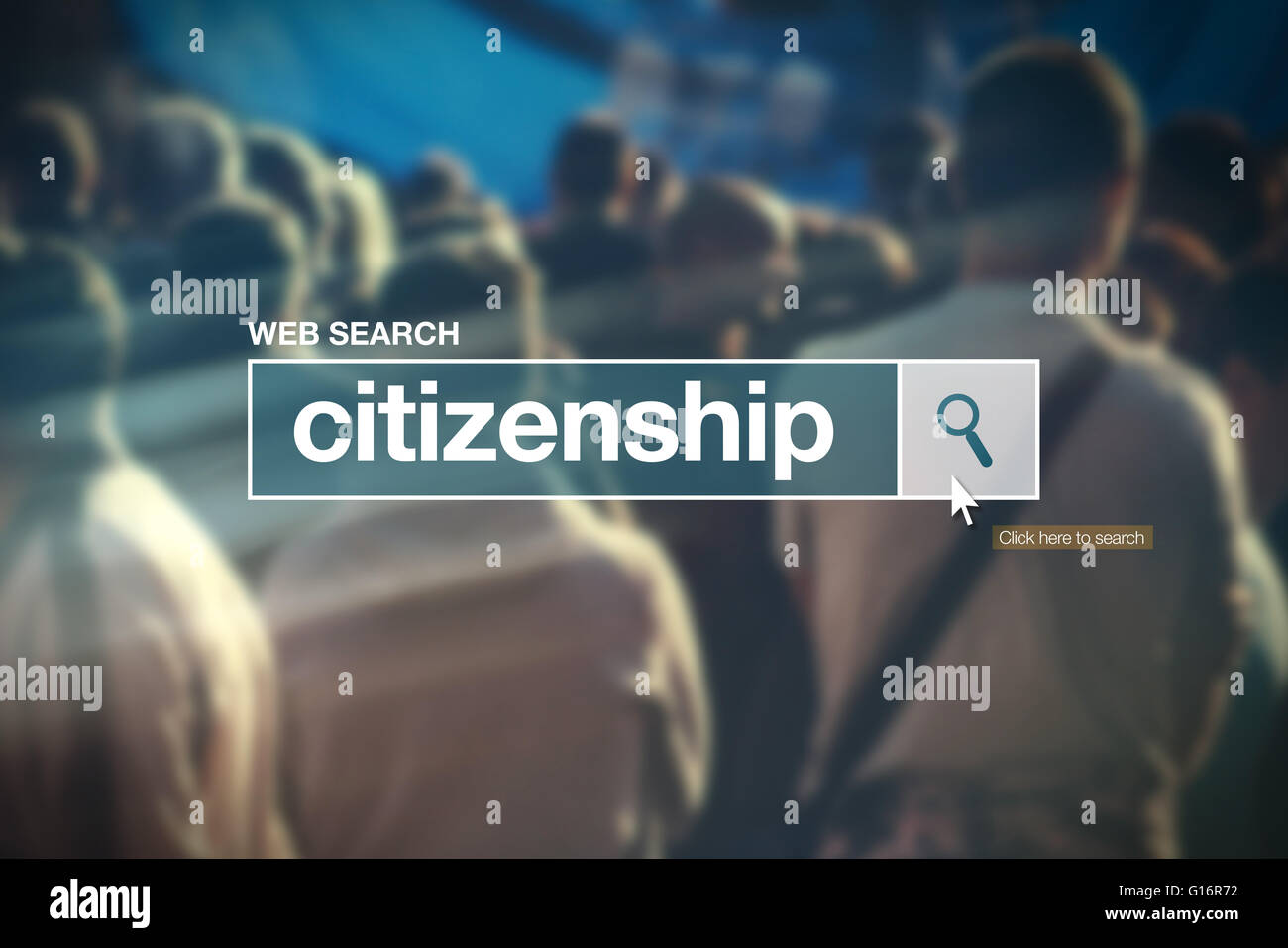 Citizenship - web search bar glossary term on internet - Stock Image