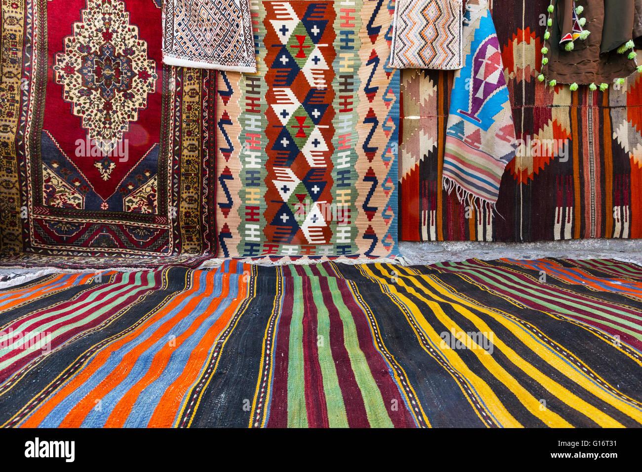 Carpet and Kilim Shop - Stock Image
