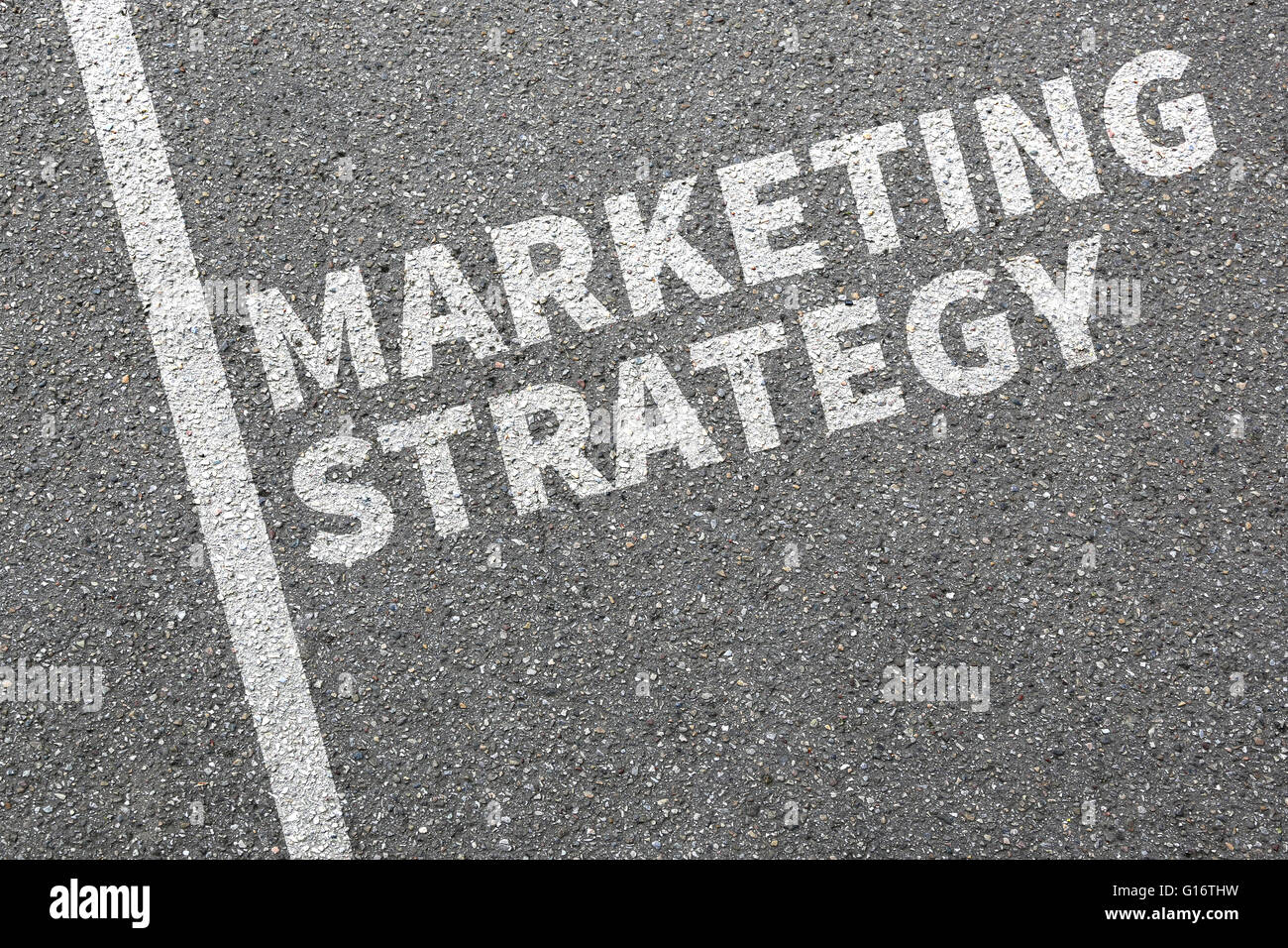 Marketing strategy sale sales advertisement company business concept success - Stock Image