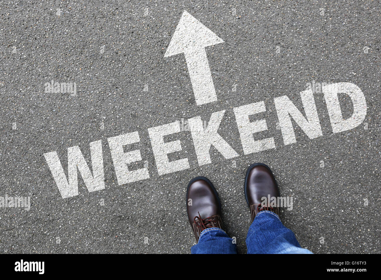 Weekend relax relaxed break people business concept free time leisure - Stock Image