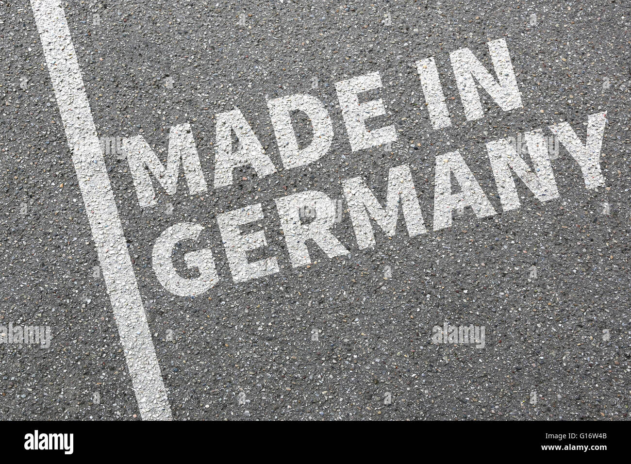 Made in Germany product quality marketing company concept - Stock Image
