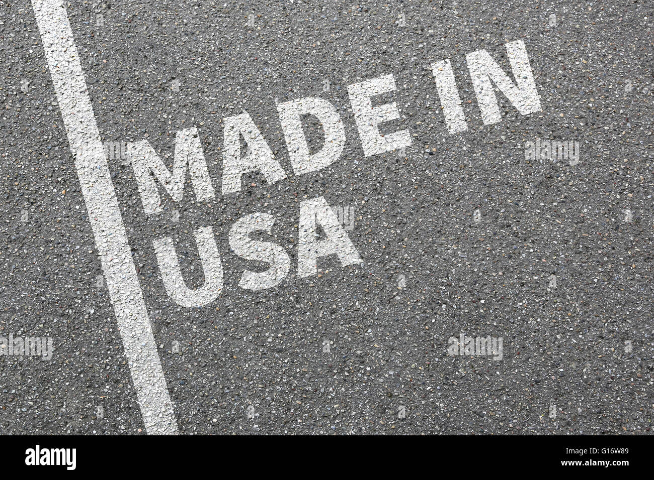 Made in USA product quality marketing company concept - Stock Image