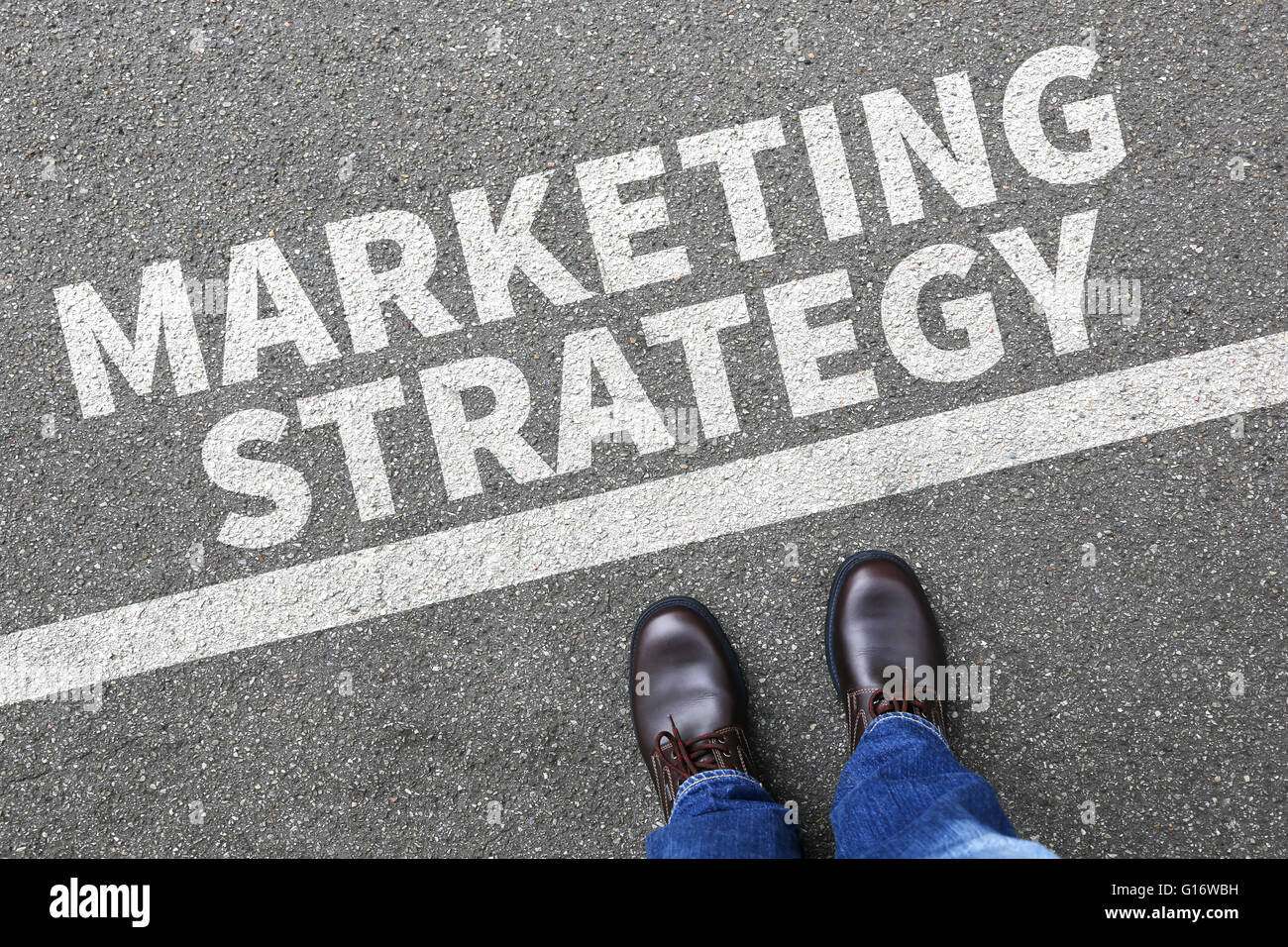 Marketing strategy sale sales advertisement business concept success successful branding - Stock Image