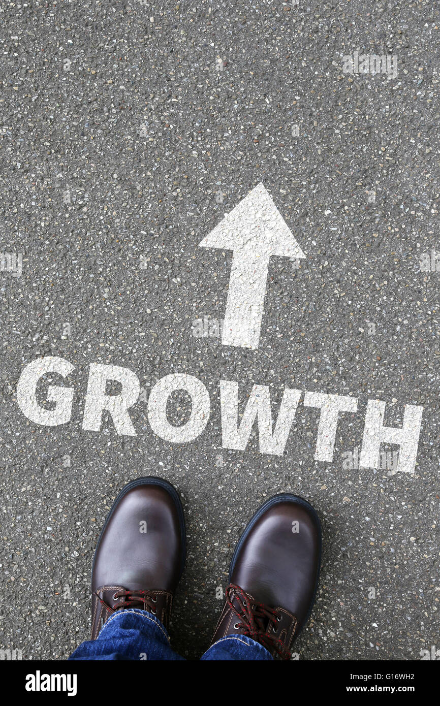 Business concept with growth growing success successful finances - Stock Image