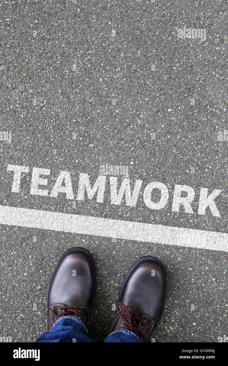 Teamwork team working together business concept success - Stock Image
