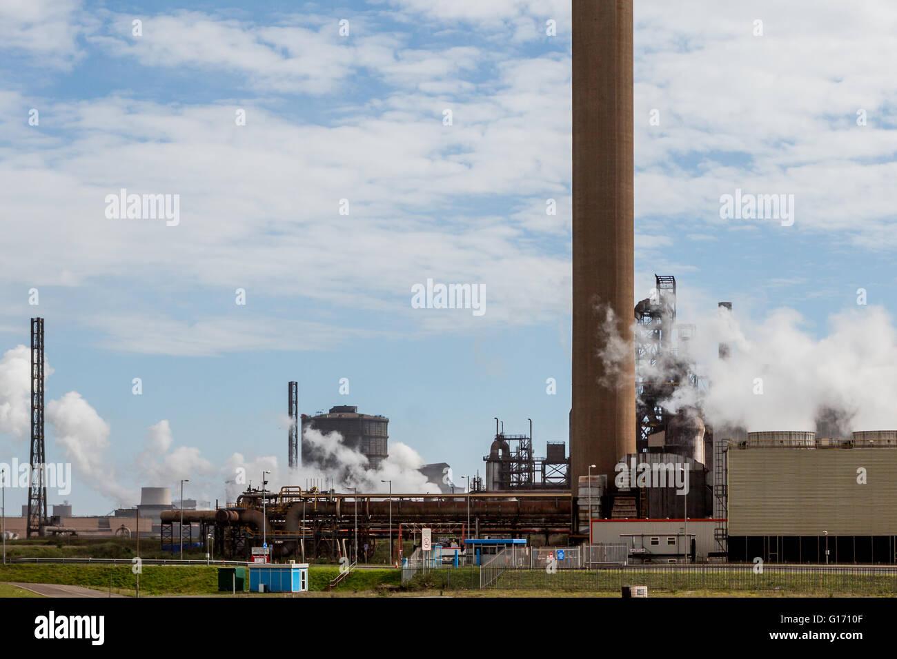 Tata Steel at Port Talbot steel works Wales Stock Photo