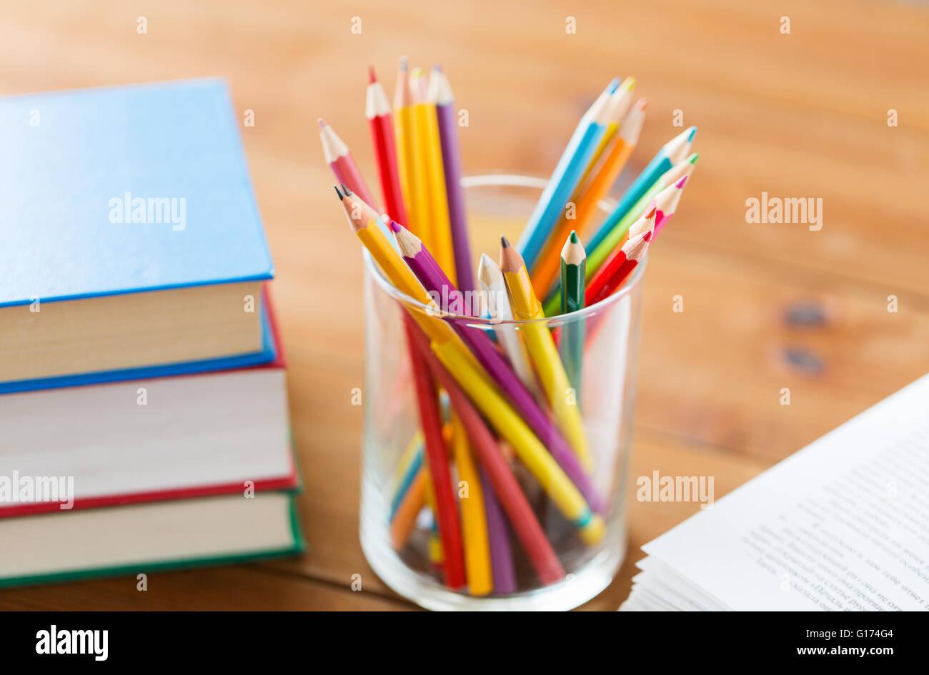 Coloring Book Crayons Nobody Stock Photos & Coloring Book Crayons ...