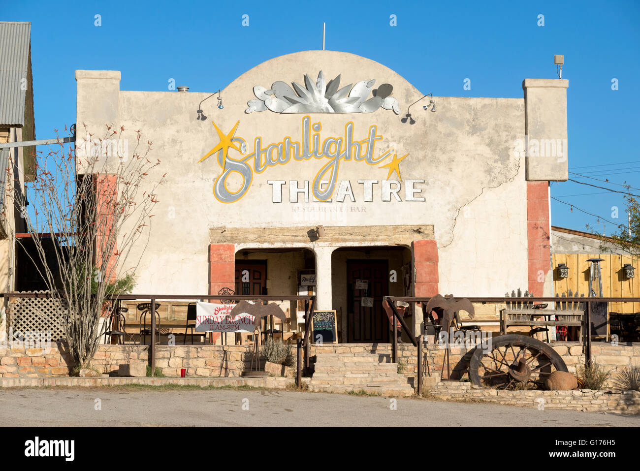 Starlight Theatre Restaurant And Saloon In Terlingua, Texas.