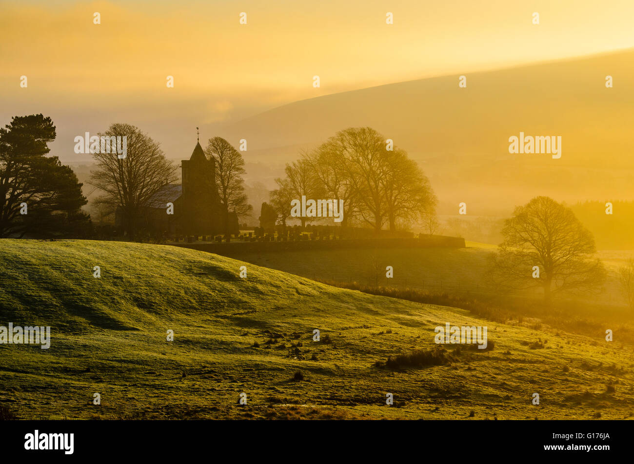 Christ Church, known as The Shepherds' Church, at Over Wyresdale Lancashire England - Stock Image