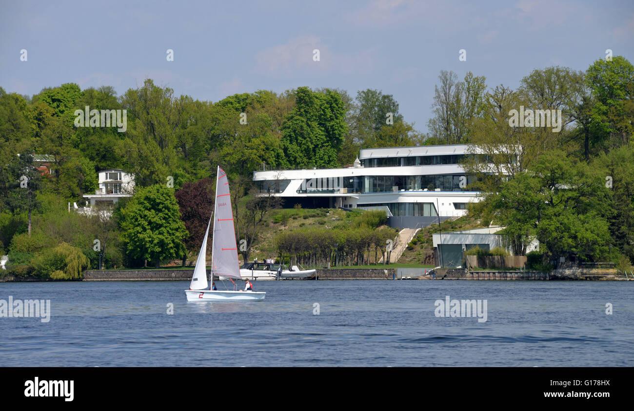 Segelboot, Schwanenwerder, Wannsee, Berlin, Deutschland - Stock Image