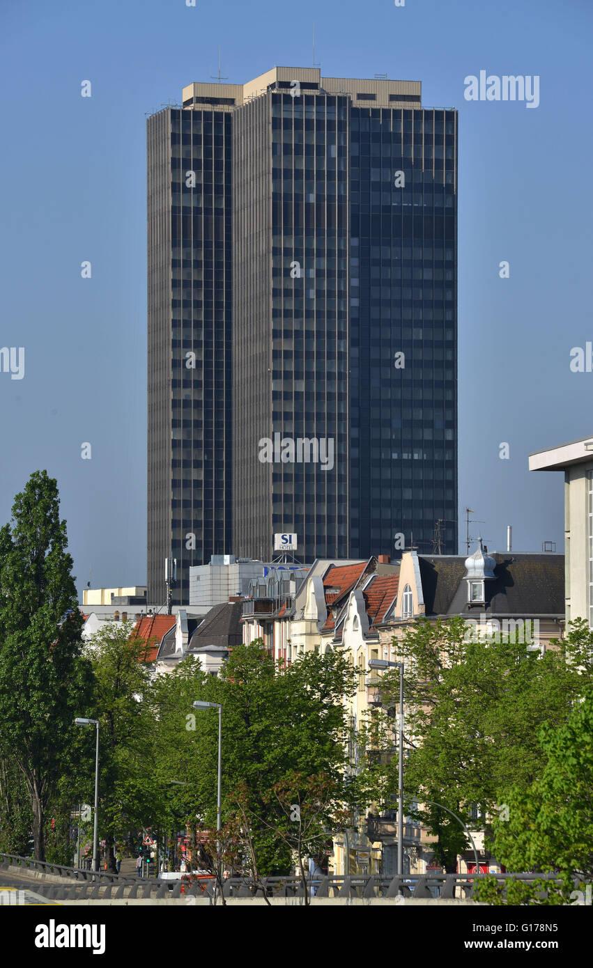 Hochhaus Steglitzer Kreisel, Schlossstrasse, Steglitz, Berlin, Deutschland / Schloßstraße - Stock Image