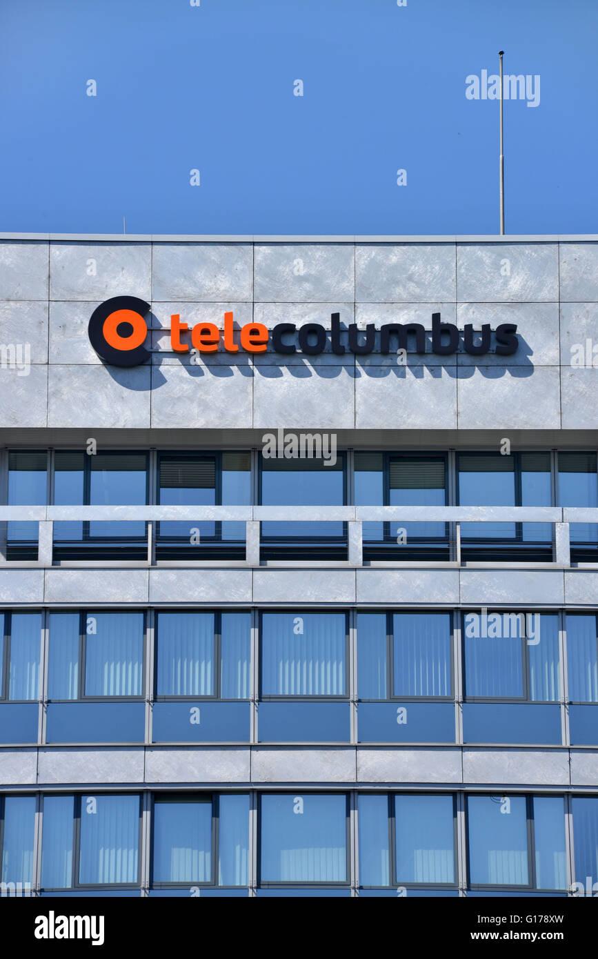 Tele Columbus, Hochhaus, Ernst-Reuter-Platz, Charlottenburg, Berlin, Deutschland - Stock Image