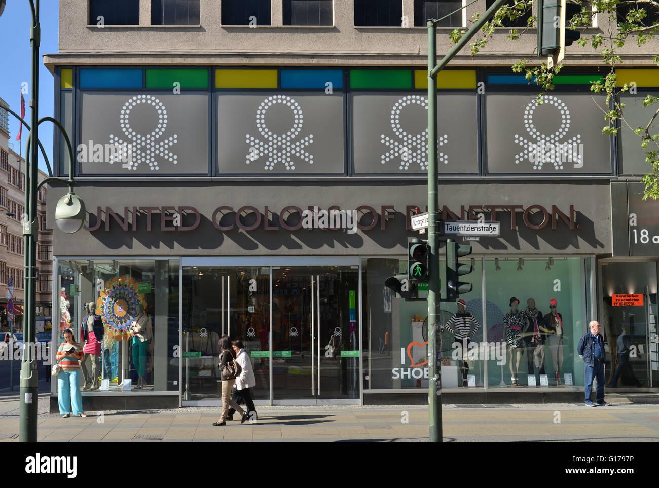 Benetton, Textilien, Tauentzienstrasse, Charlottenburg, Berlin, Deutschland - Stock Image