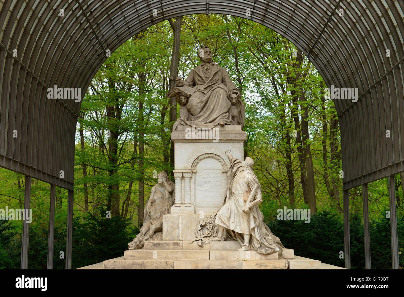 Richard Wagner, Denkmal, Grosser Tiergarten, Tiergarten, Berlin, Deutschland - Stock Image