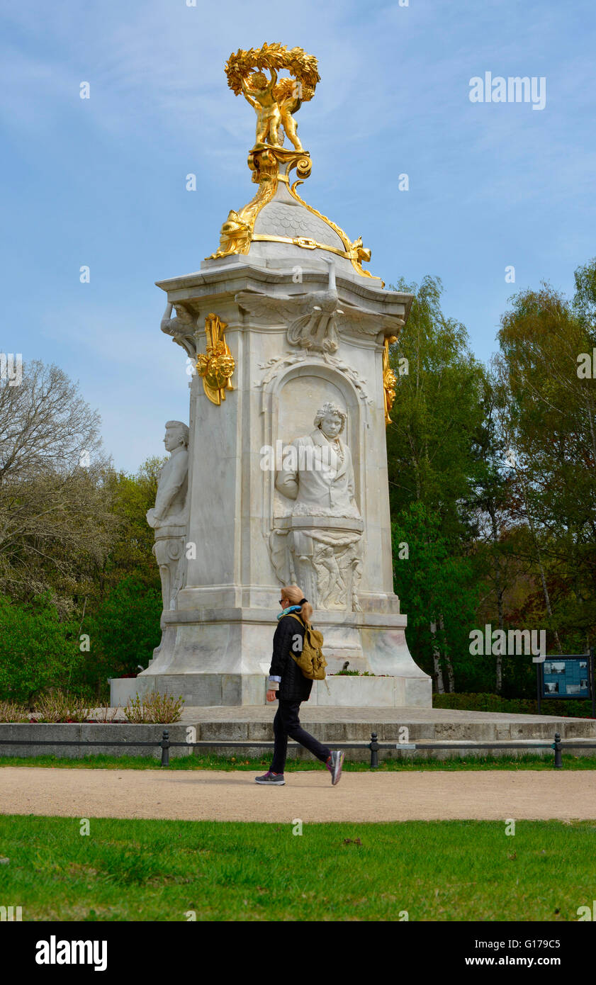Beethoven-Haydn-Mozart-Denkmal, Grosser Tiergarten, Tiergarten, Berlin, Deutschland - Stock Image