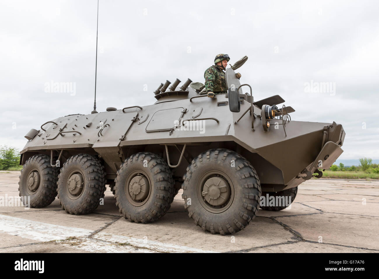 Sofia, Bulgaria - May 4, 2016: Soldiers from the Bulgarian army are preparing for a parade for Army's day in - Stock Image