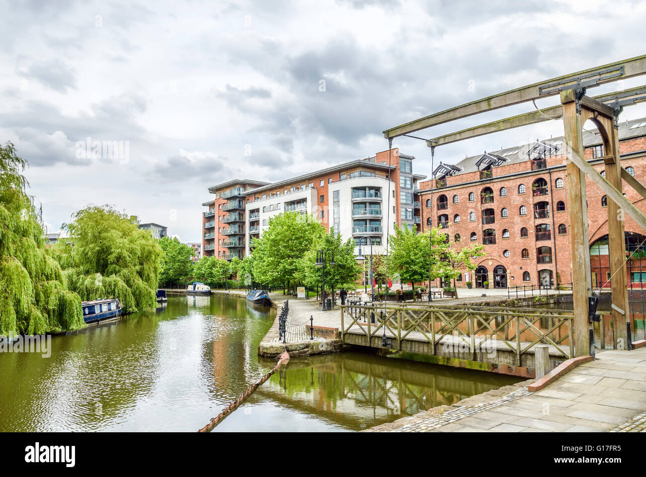 Housing developments Castlefield area in the inner city area of Manchester in North West England. - Stock Image