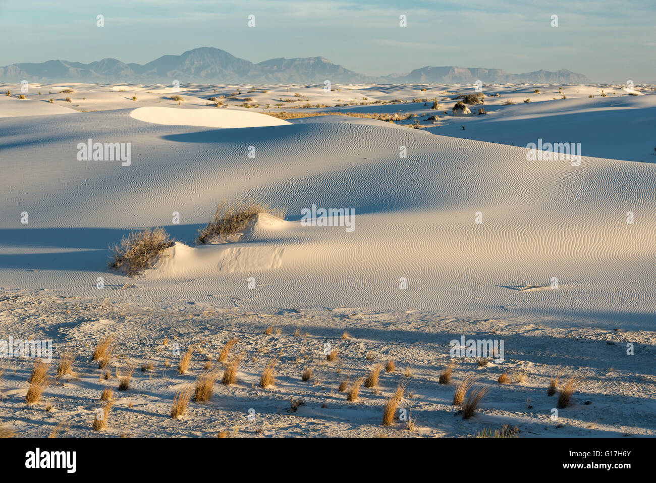 Sand dunes, White Sands National Monument, New Mexico. - Stock Image