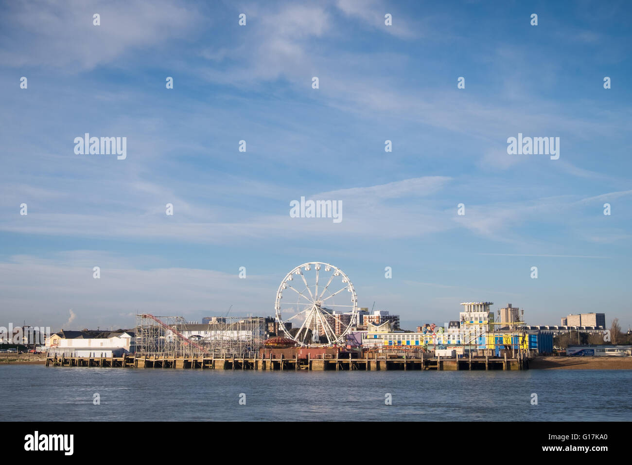 Clarence Pier on Southsea seafront Stock Photo