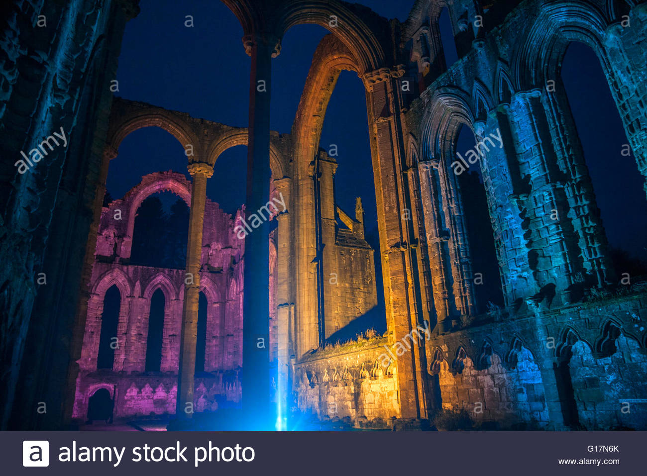 Fountains Abbey, Ripon, Yorkshire - Stock Image