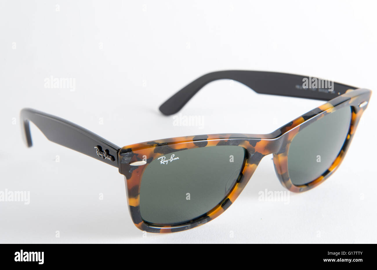 ceb2f4c27f Ray Ban Wayfarer Sunglasses Tortoise shell ORB2140-1157 Stock Photo ...