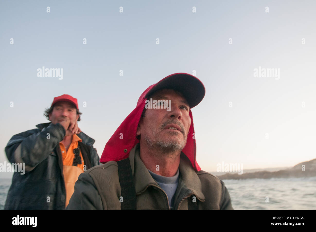 Gill net fishing - Stock Image