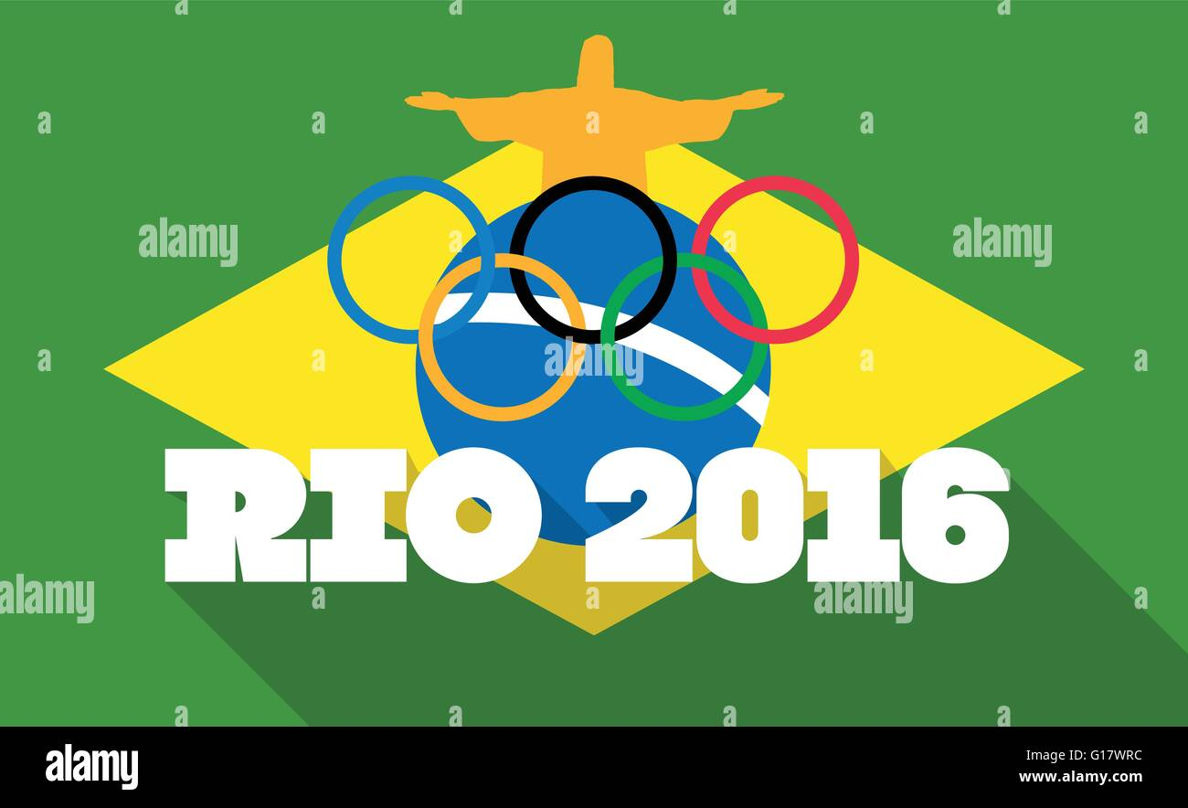 Olympic Games in Rio 2016 - Stock Vector