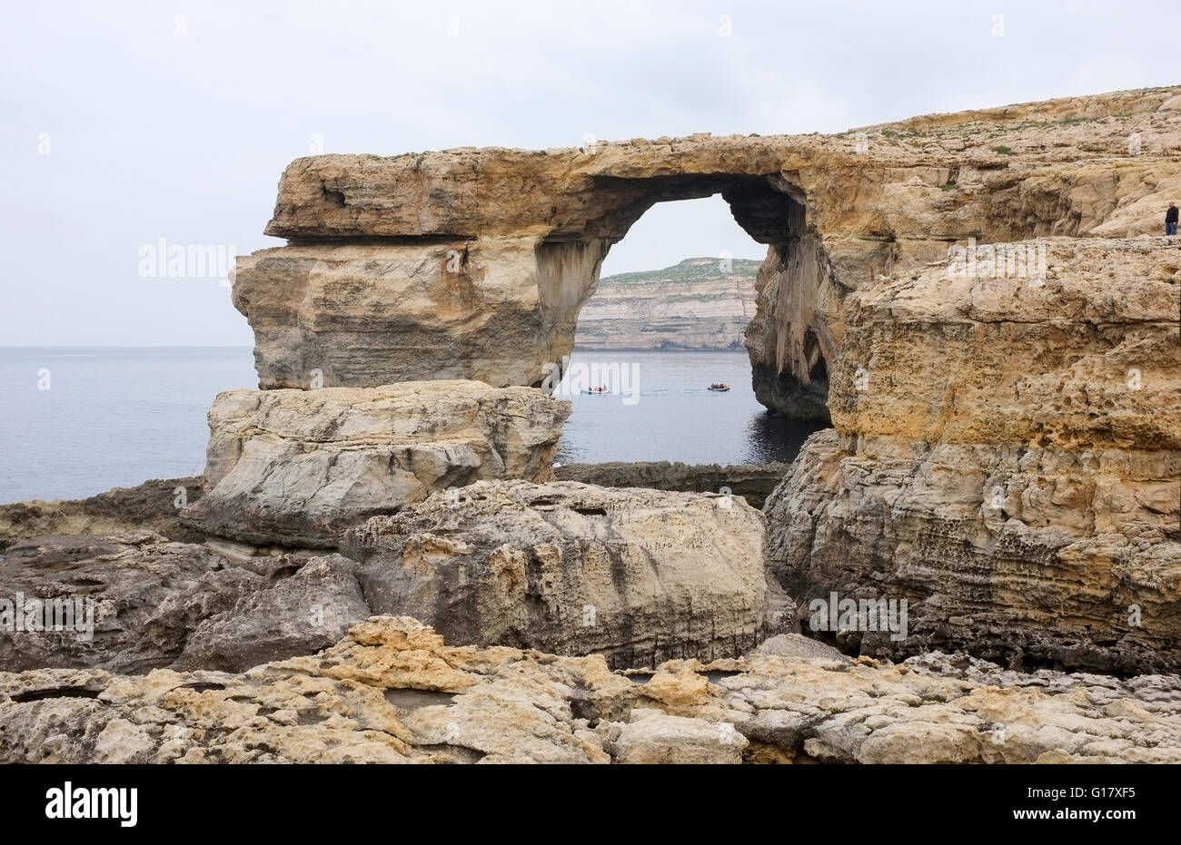 The Asure Window in Gozo, Malta -1 - Stock Image