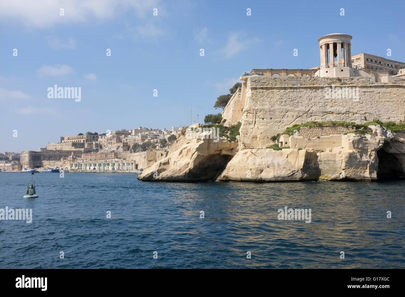 Valletta, Malta, Harbour and Siege Bell Memorial -1 - Stock Image