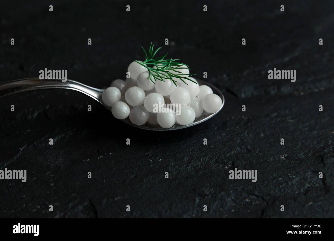 snail caviar - Stock Image