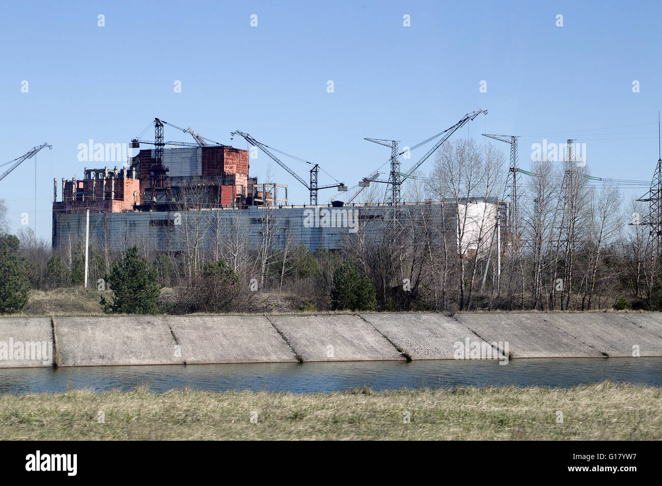 Nuclear Power Plant Chernobyl, unfinished Reactor 5 and 6 - Stock Image