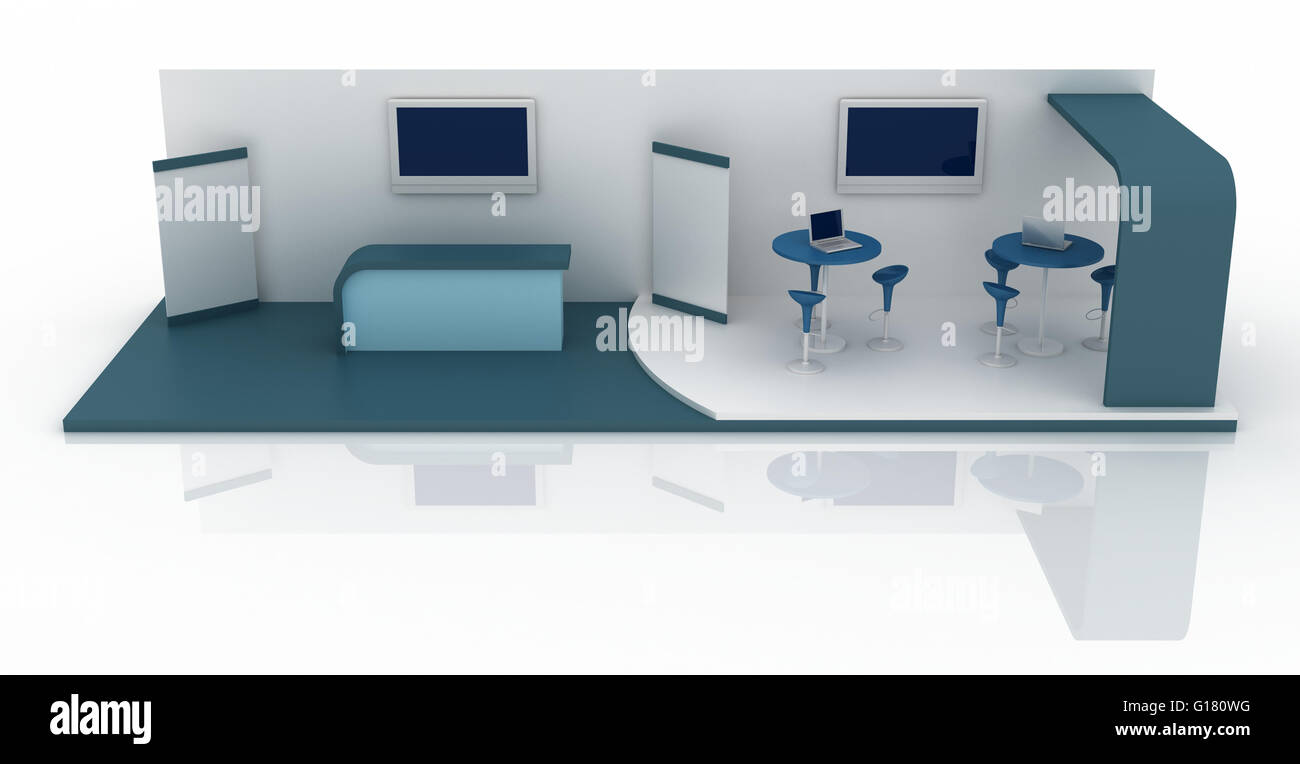 Exhibition Booth Floor Plan : Empty exhibition booth copy space illustration d rendering