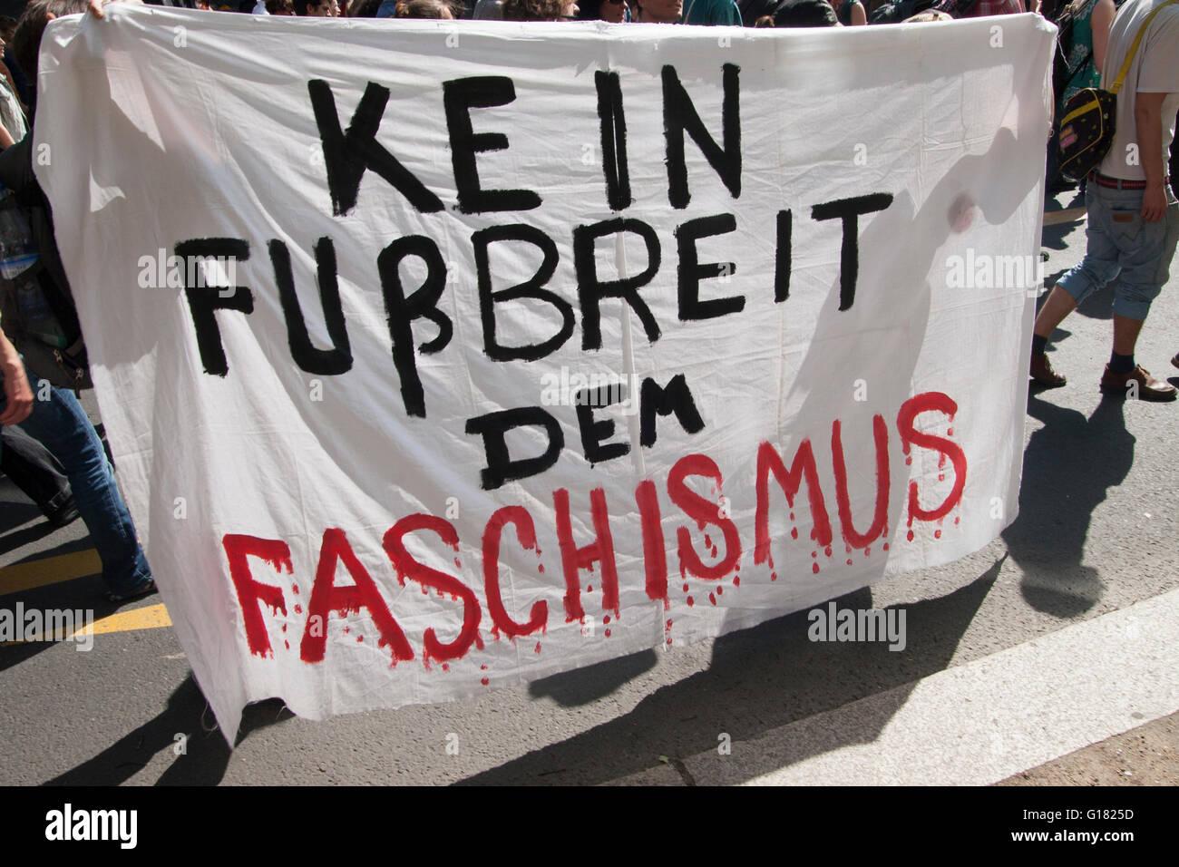 Demonstration gegen Nazis. Berlin, Germany. Stock Photo