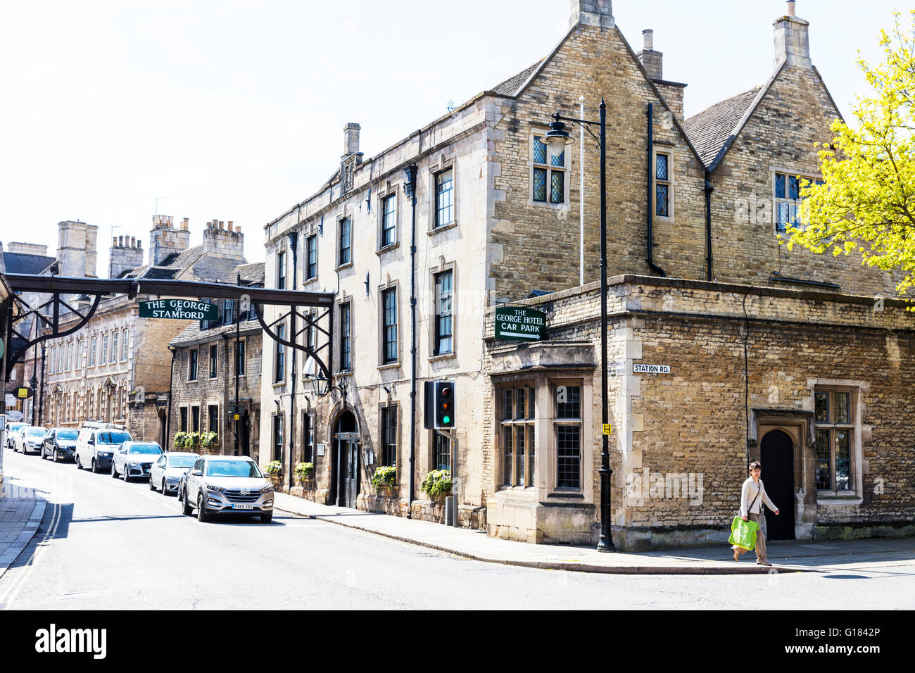 the george hotel building sign stamford town lincolnshire. Black Bedroom Furniture Sets. Home Design Ideas
