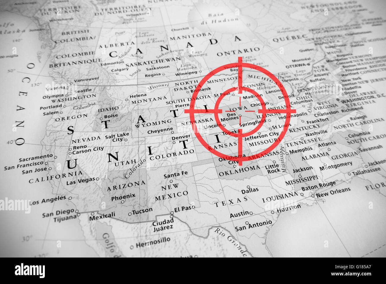 Montana Map Wyoming Idaho Utah Stock Photos Montana Map Wyoming