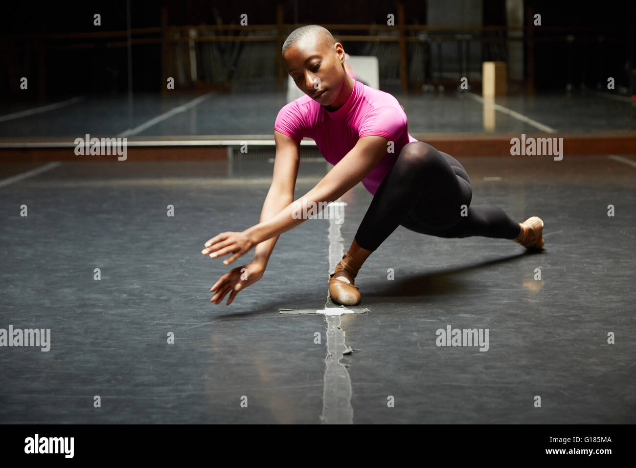 Ballet dancer in dance move Stock Photo