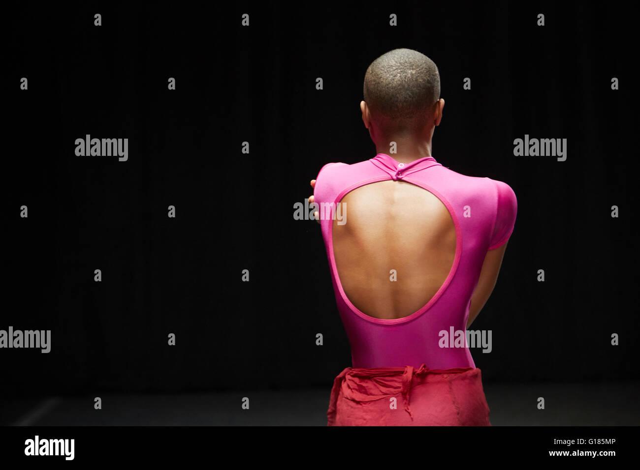 Backview of dancer - Stock Image
