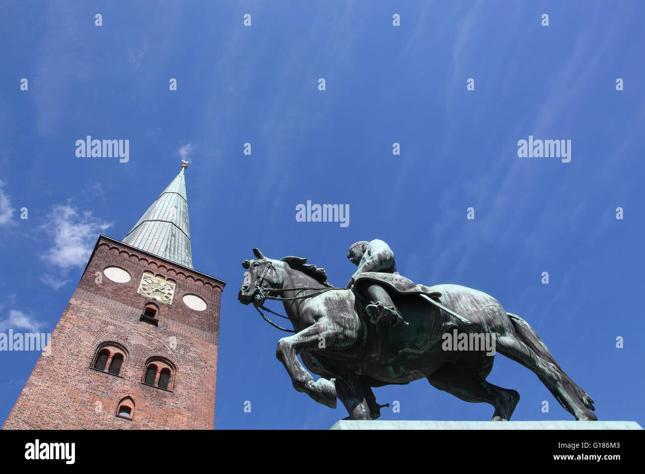 Cathedral of Aarhus, Denmark - Stock Image