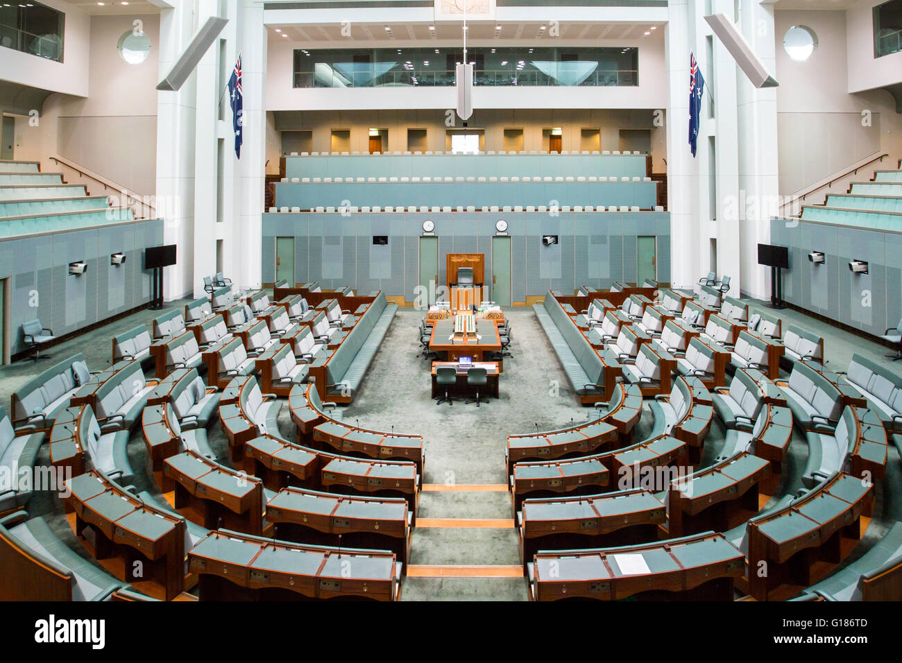 CANBERRA, AUSTRALIA   MAR 25, 2016: Interior View Of The House Of  Representatives