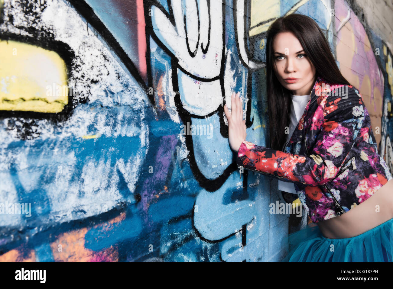 Urban Fashion Photoshoot in Salento, Apulia, model posing in
