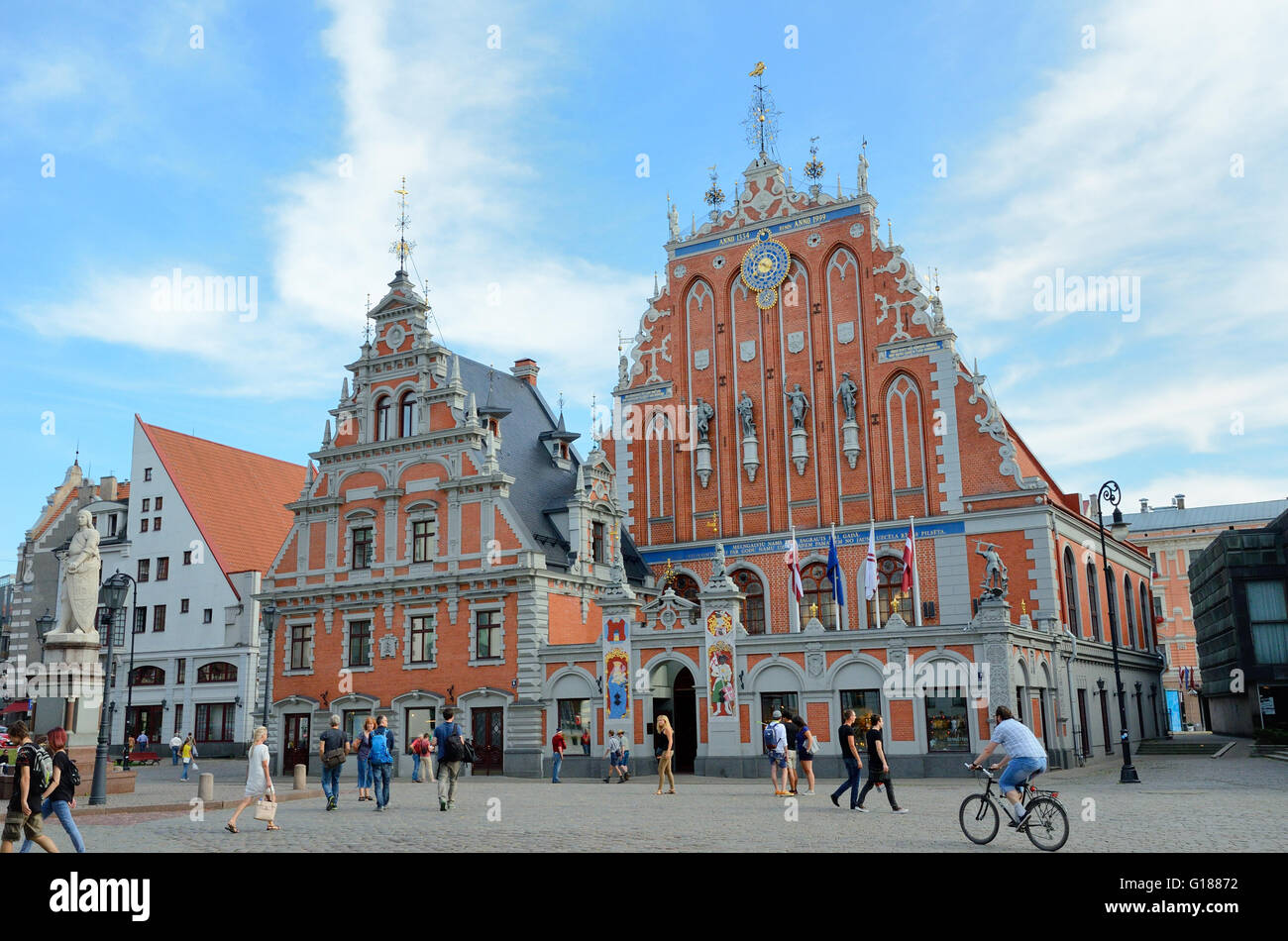Legendary house of the Blackheads, Riga - Stock Image